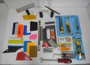 Инструменты для оклейки пленкой