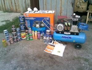 Оборудование для покраски автомобиля