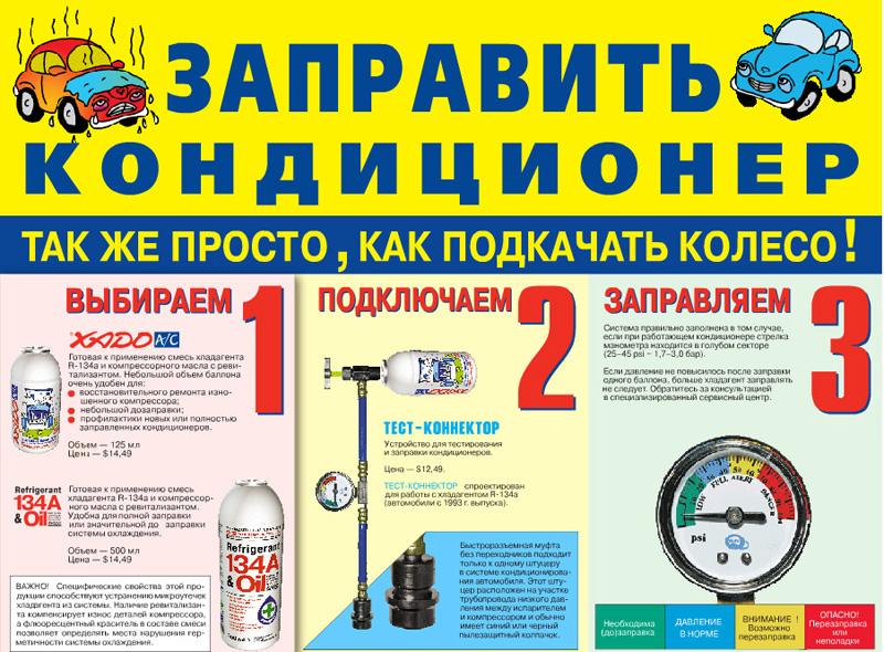 руководство по заправке кондиционеров автомобильных - фото 2